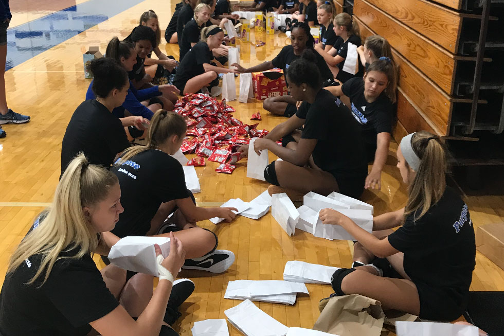 Volleyball Encouragement Bags